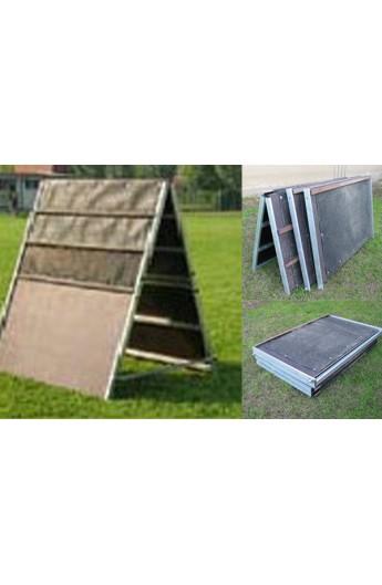 Palizzata smontabile in alluminio e legno marino (PALI)