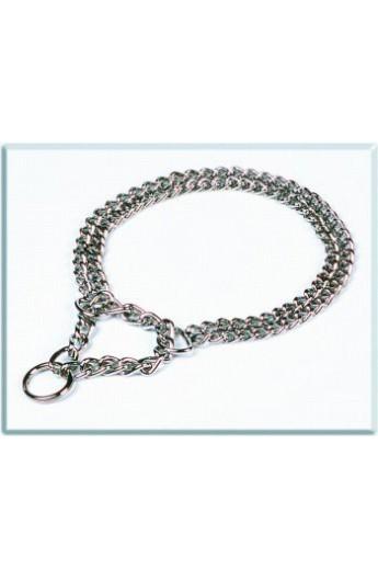 Collare semi-strangolo cm.1,5 x 50 acciaio (D060/D)