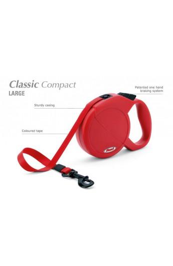 Guinzaglio avvolgibile Flexi Classic Compact Large (C35.116.INT GR) con cinghia