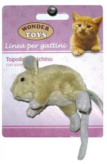 Topolino Birichino con sonaglio per gattino Wonder Toys