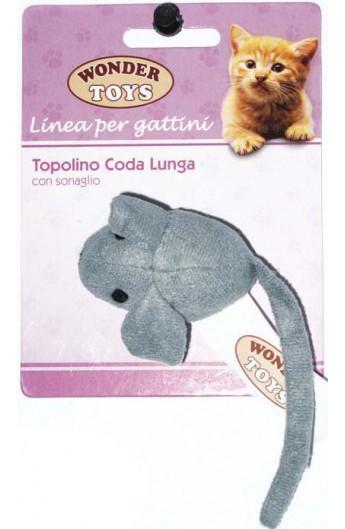 Topolino Coda Lunga con sonaglio per gattino Wonder Toys