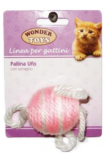 Pallina Ufo con sonaglio per gattino Wonder Toys