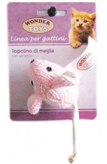 Topolino di Maglia con sonaglio per gattino Wonder Toys