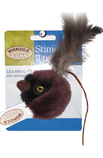 Uccellino Piumato con sonaglio Wonder Toys