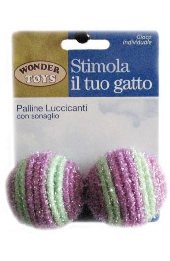 Palline Luccicanti con sonaglio Wonder Toys