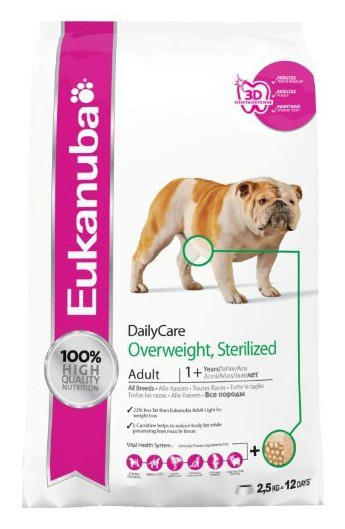 Eukanuba adult Daily Care Overweight Sterilized