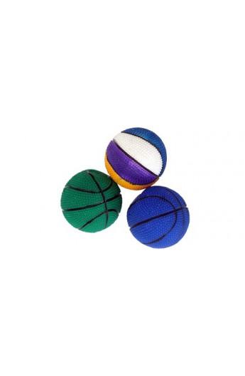 Palla basket gomma morbida piena